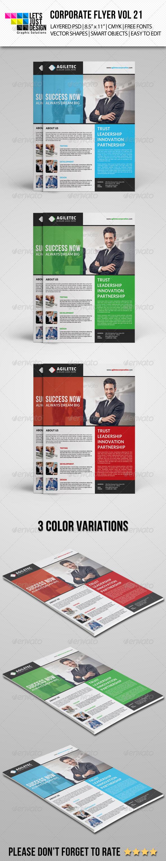 GraphicRiver Corporate Flyer Template Vol 21 7994992