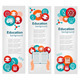 Set of Education Banners with Icons - GraphicRiver Item for Sale