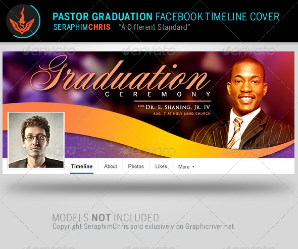GraphicRiver Pastor Graduation Facebook Timeline Cover Template 7995171