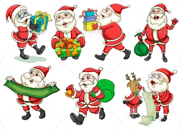 GraphicRiver Busy Santa 7995259