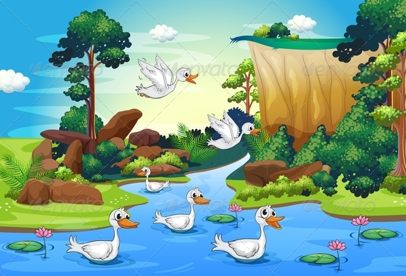 GraphicRiver Ducks at the River 7995281