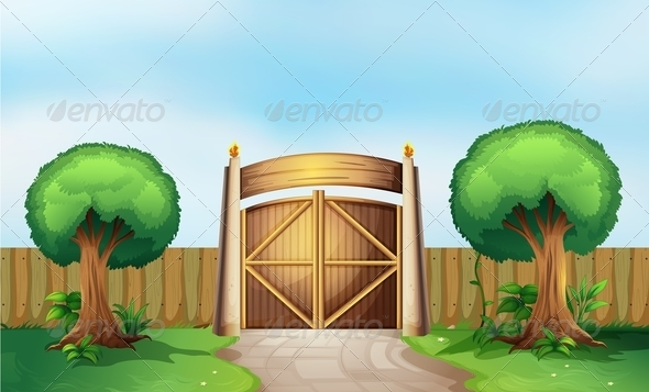 GraphicRiver A Gated Park 7995311