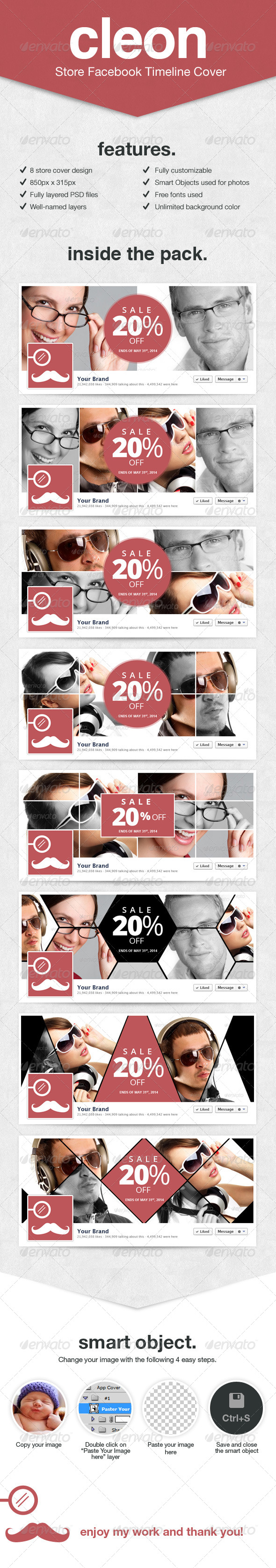 GraphicRiver Cleon Store Facebook Covers 7943082