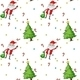 Seamless Design Showing Santa and Trees  - GraphicRiver Item for Sale