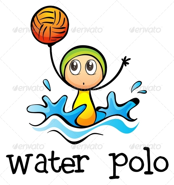 GraphicRiver Stickman Playing Water Polo 7995368
