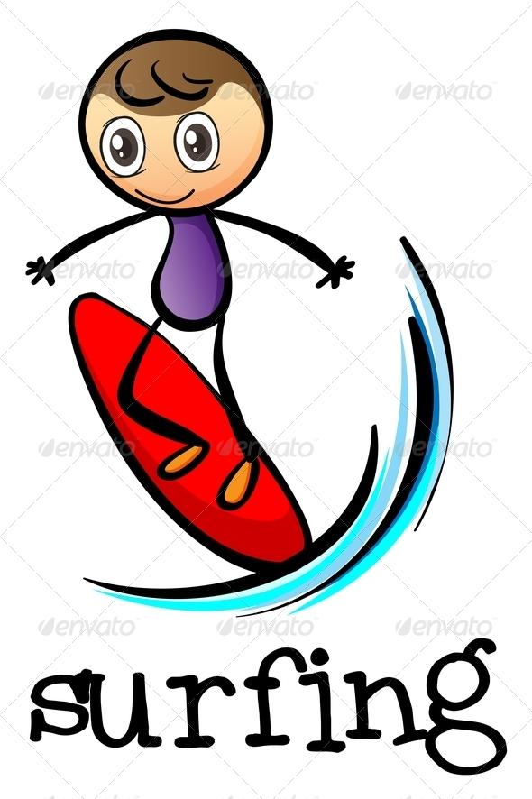 GraphicRiver A Stickman Surfing 7995382