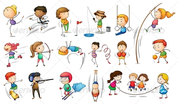 GraphicRiver Kids Engaging in Different Sports 7995408