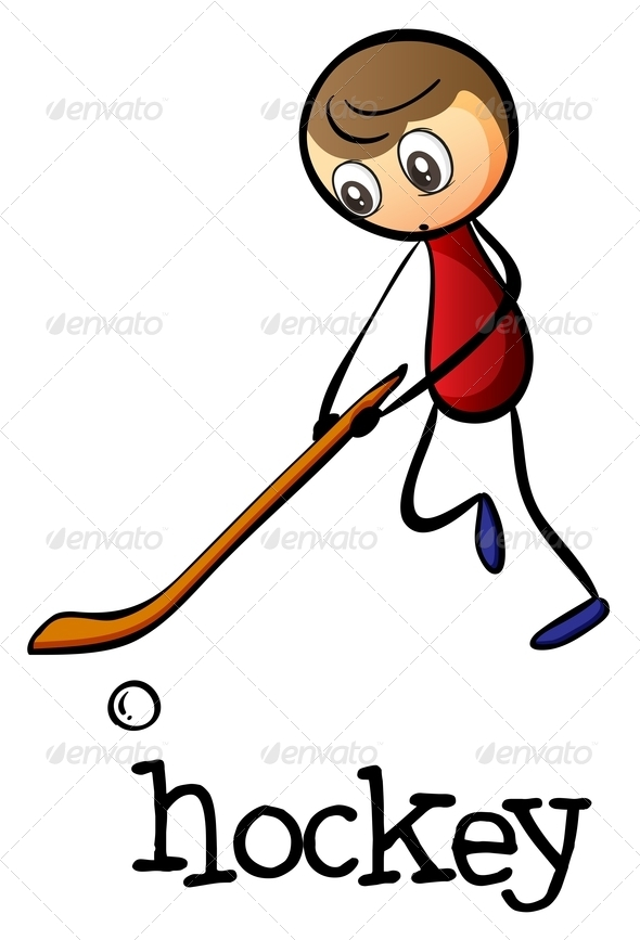 GraphicRiver A Man Playing Hockey 7995419