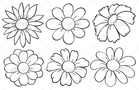 GraphicRiver Flowers in Doodle Design 7995458