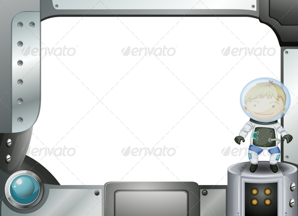 GraphicRiver A Frame with an Astronaut 7995515