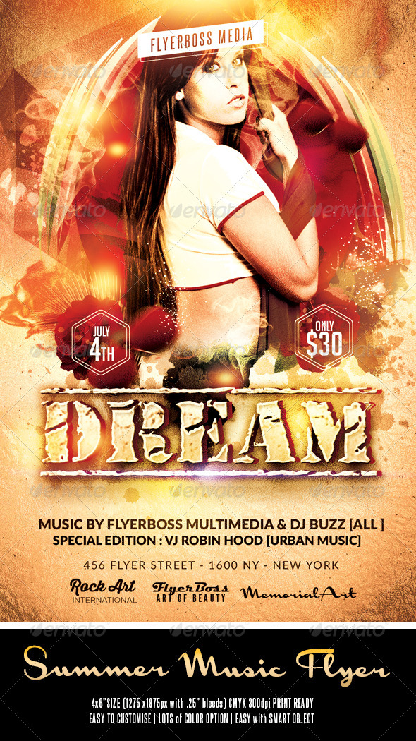 GraphicRiver Summer Music Flyer 3 7995652