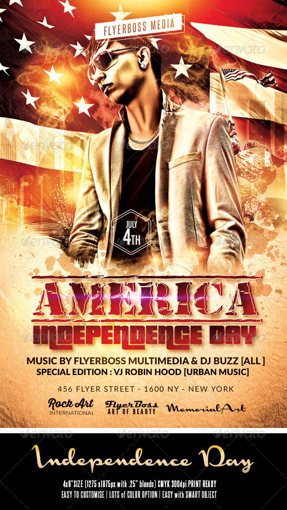 GraphicRiver Independence Day Flyer 7995735