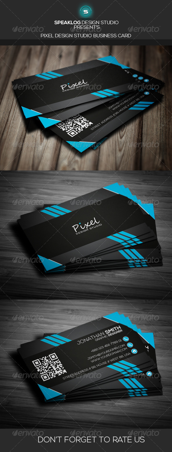 GraphicRiver Pixel Creative Business Card v-04 7995780
