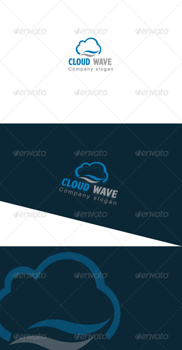 GraphicRiver Cloud Wave Logo Template 7990057