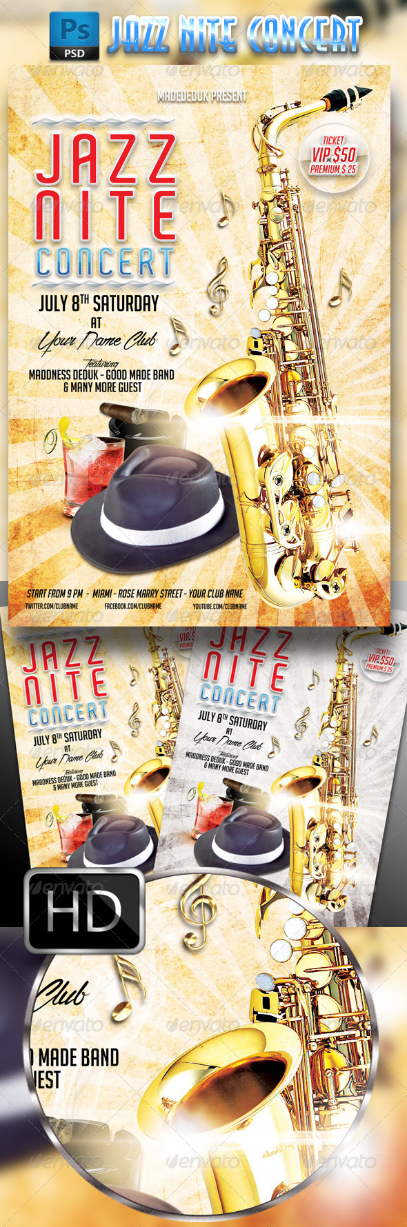 GraphicRiver Jazz Nite Concert Flyer 7995812