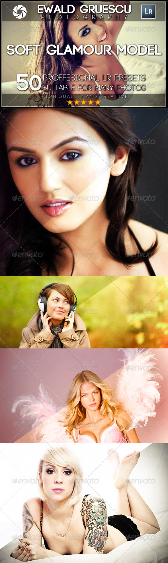 GraphicRiver 50 PRO Glamour Model Soft Lightroom Presets 7995814