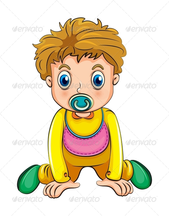 GraphicRiver Toddler with Pacifier 7995921