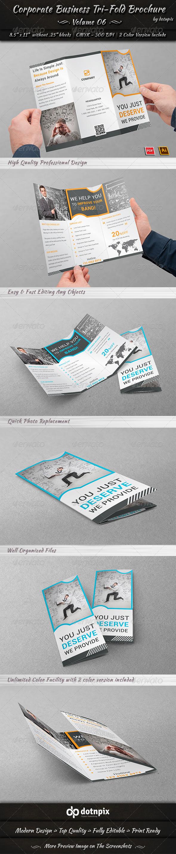 GraphicRiver Corporate Business Tri-Fold Brochure Volume 6 7995949