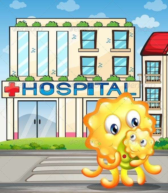 GraphicRiver Monster leaving Hospital 7995979