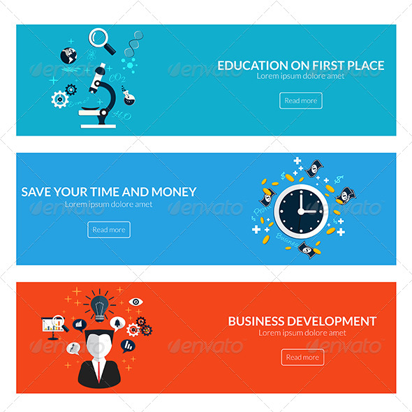 GraphicRiver Flat Designed Banners 7992079