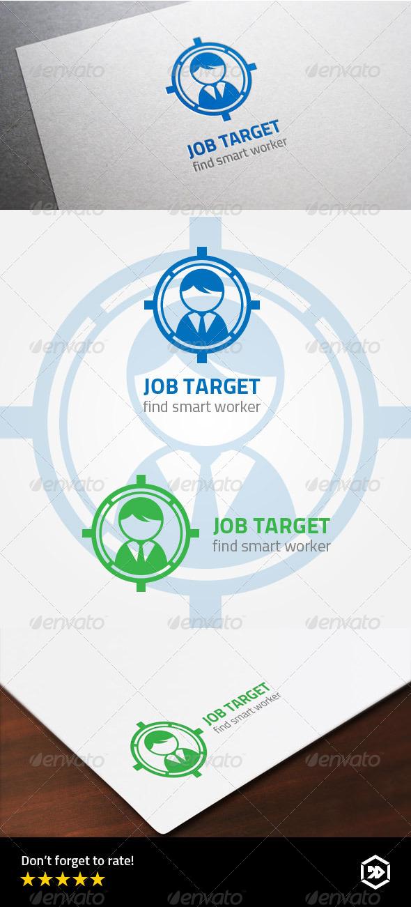 GraphicRiver Job Target or Find Worker Logo 7996178