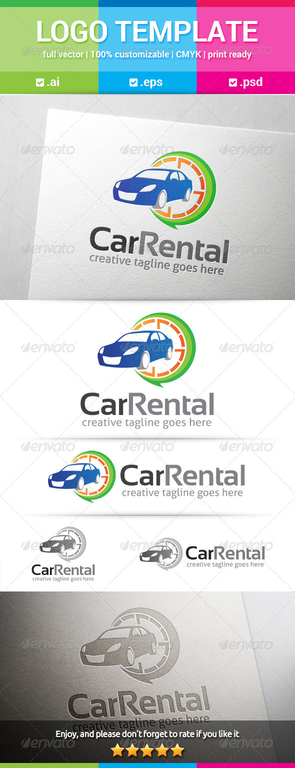 GraphicRiver Car Rent Logo 7996188