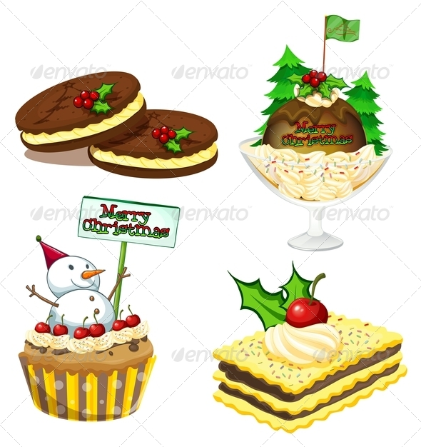 GraphicRiver Christmas Desserts 7996193