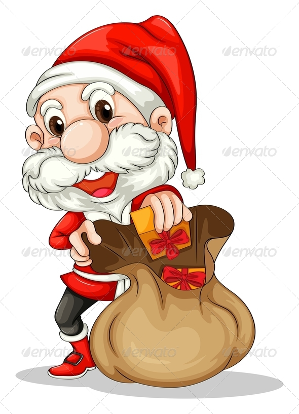 GraphicRiver Santa Claus with a Brown Sack 7996210