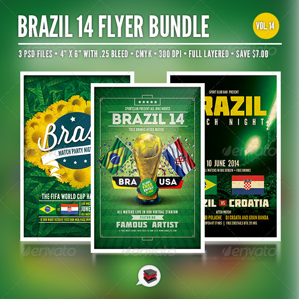 GraphicRiver Soccer Cup Bundle Vol 14 7965929