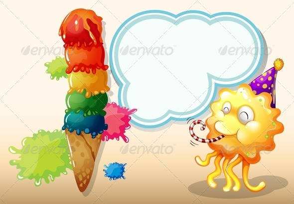 GraphicRiver Monster with Ice Cream 7996227