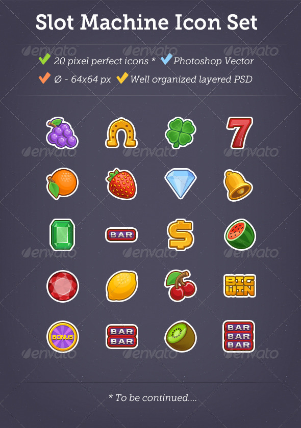 GraphicRiver Color Slot Machine Icon Set 7944915