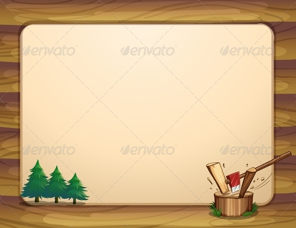 GraphicRiver Banner Template with Trees 7996258