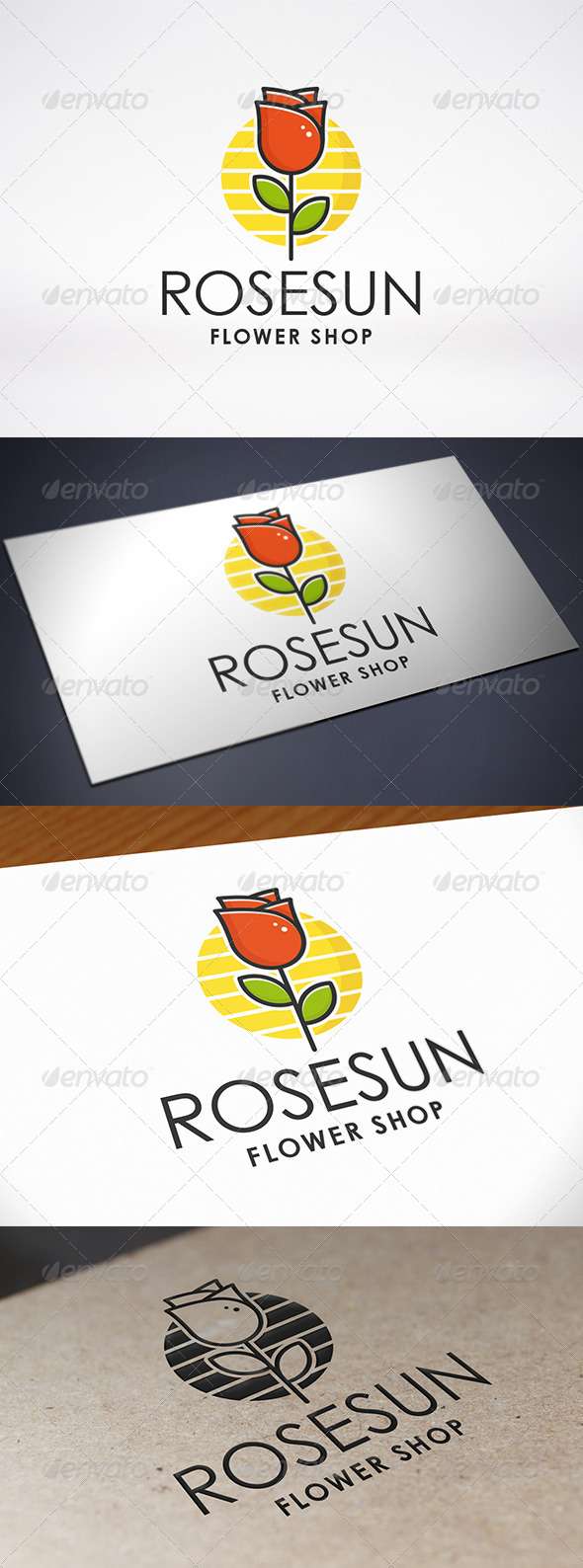 GraphicRiver Rose Logo Template 7996331