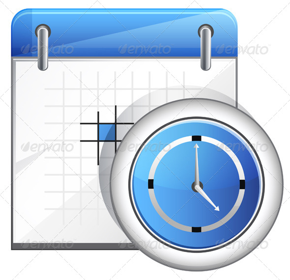 GraphicRiver Organizer with Clock Illustration 7996469