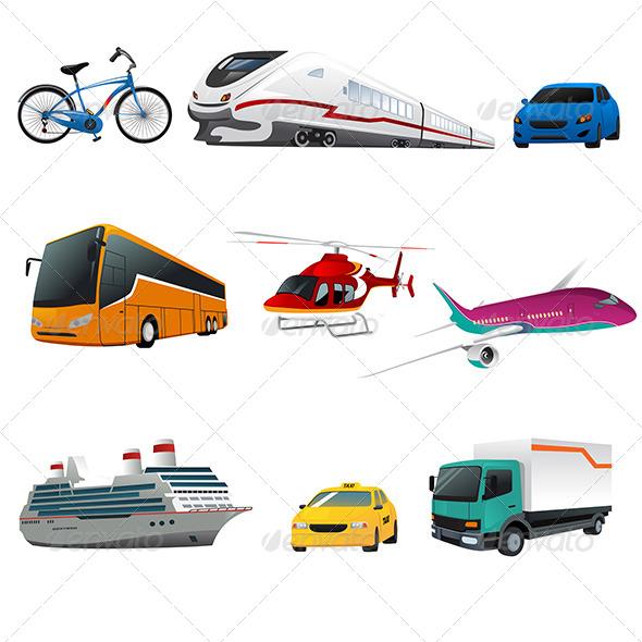 GraphicRiver Public Transport Icons 7996480