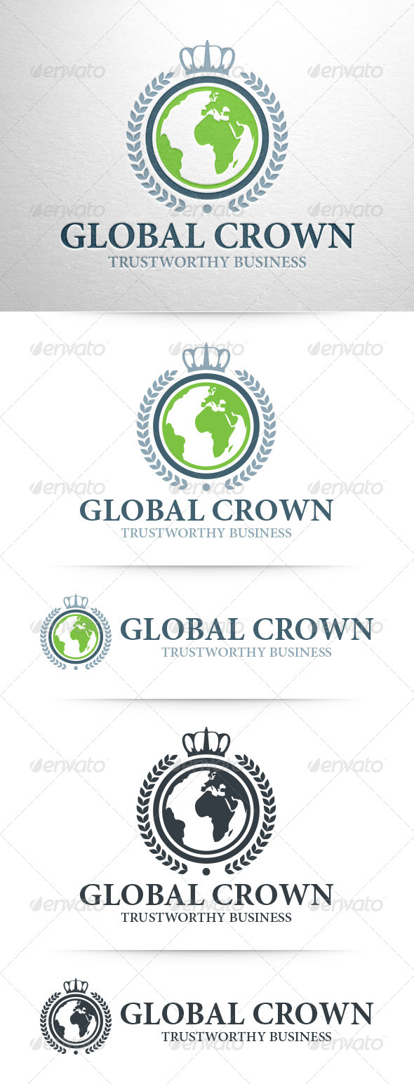 GraphicRiver Global Crown Logo Template 7996524
