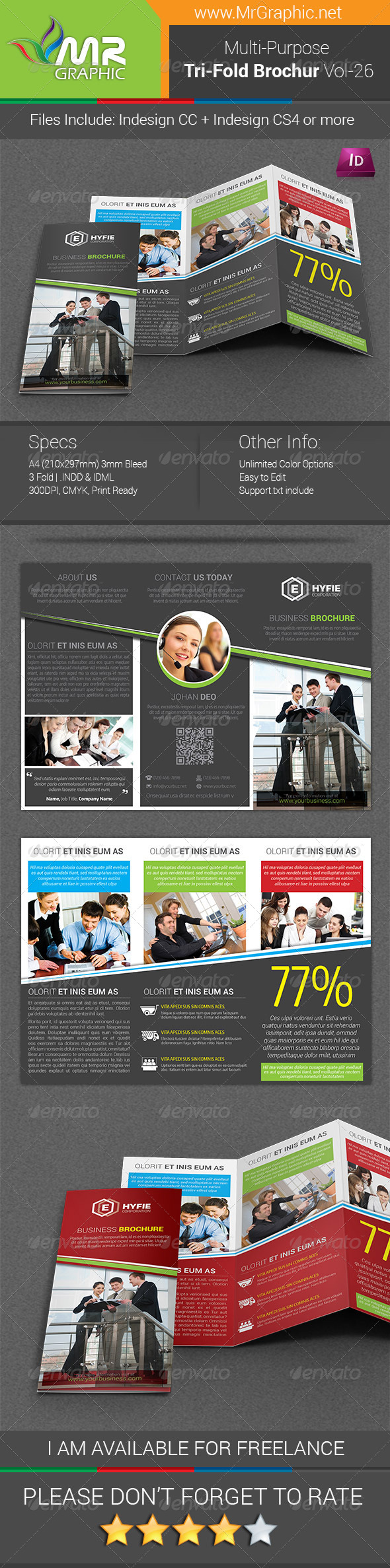 GraphicRiver Multipurpose Business Tri-Fold Brochure Vol-26 7996526