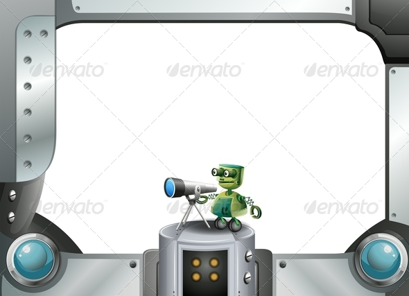 GraphicRiver Robot with Metallic Frame 7996597
