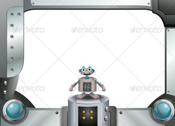 GraphicRiver Robot with Metallic Frame 7996604