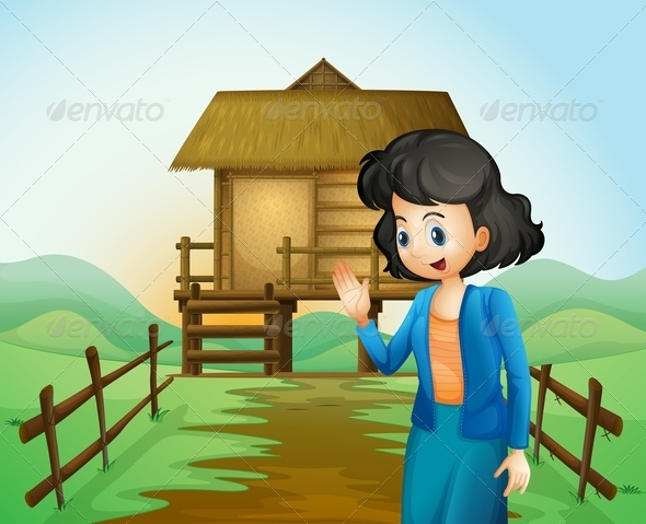 GraphicRiver Farmhouse with Woman 7996608