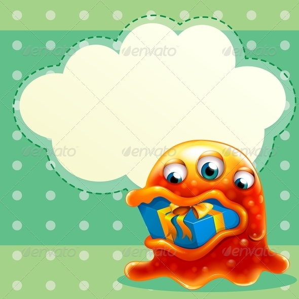 GraphicRiver Monster with Gift and Callout 7996614