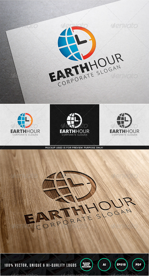 GraphicRiver Earth Hour Logo Template 7996708