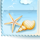 Seascape with Shells, Postcard - GraphicRiver Item for Sale
