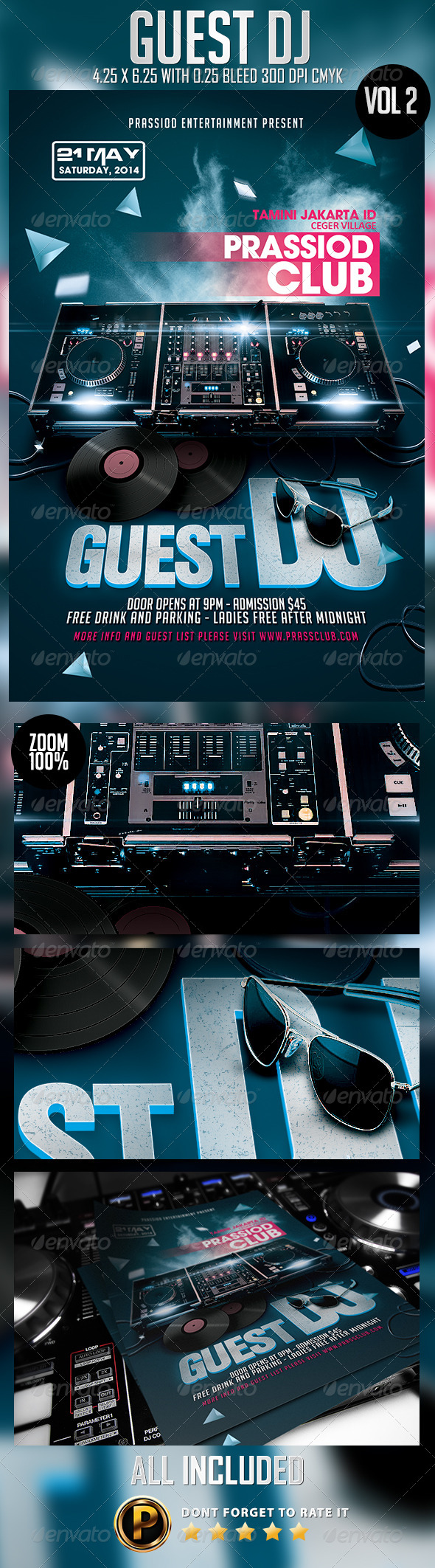 GraphicRiver Guest DJ Flyer Template Vol 2 7996860