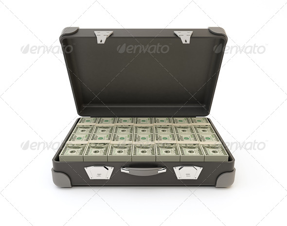 GraphicRiver Suitcase Full of Banknotes 7973879