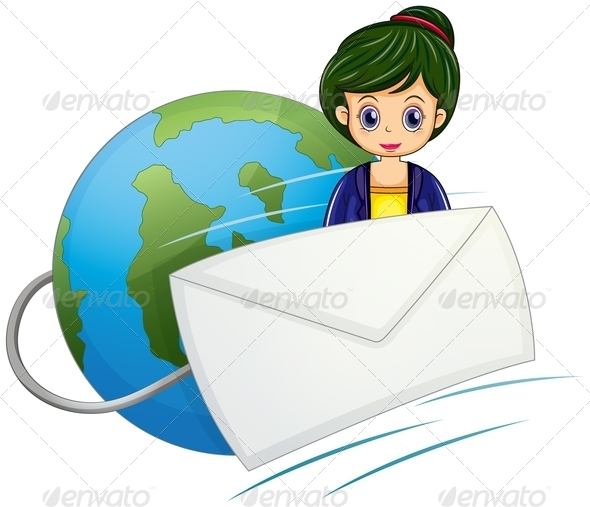 GraphicRiver Woman with Envelope 7996969