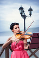 Girl Plays Violin - PhotoDune Item for Sale