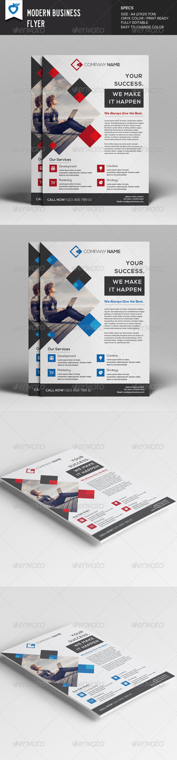GraphicRiver Modern Business Flyer 7978347