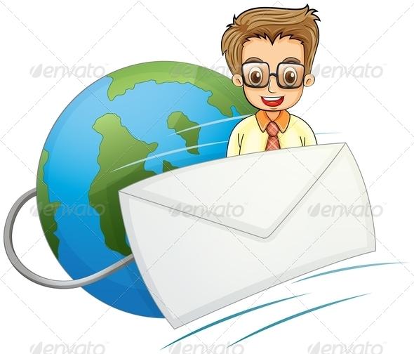 GraphicRiver Businessman Envelope 7997676