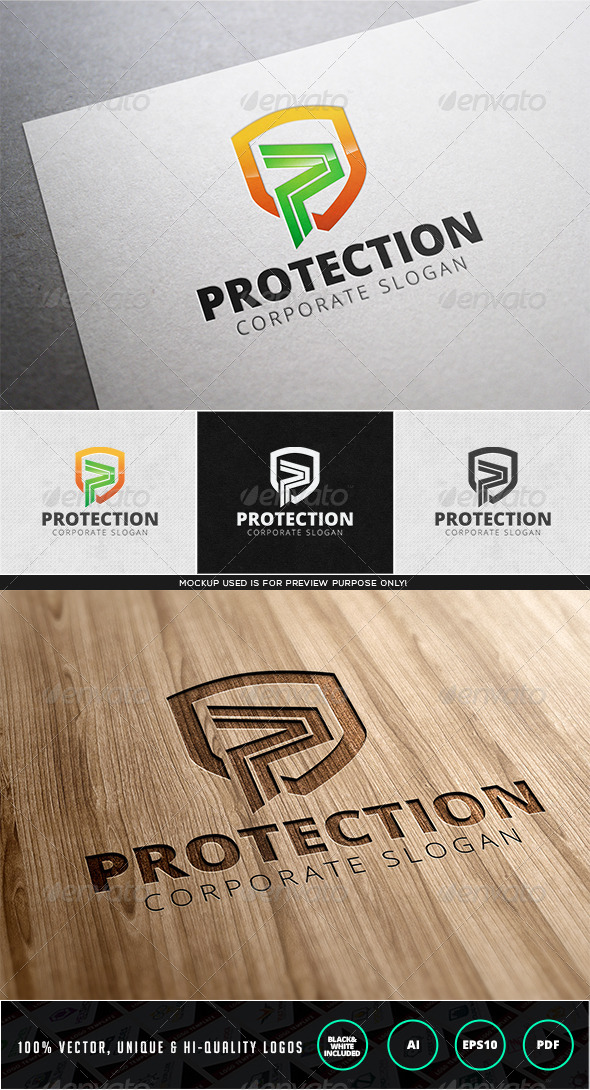 GraphicRiver Protection Logo Template 7997701